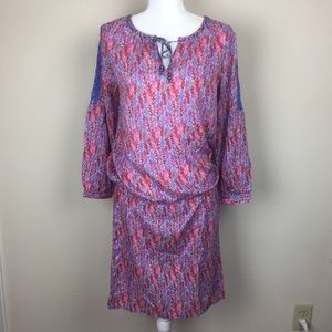 Noble Outfitters Colored Midi Dress Long Sleeve M
